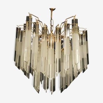 Lustre Venini Triedi en cristal 1970