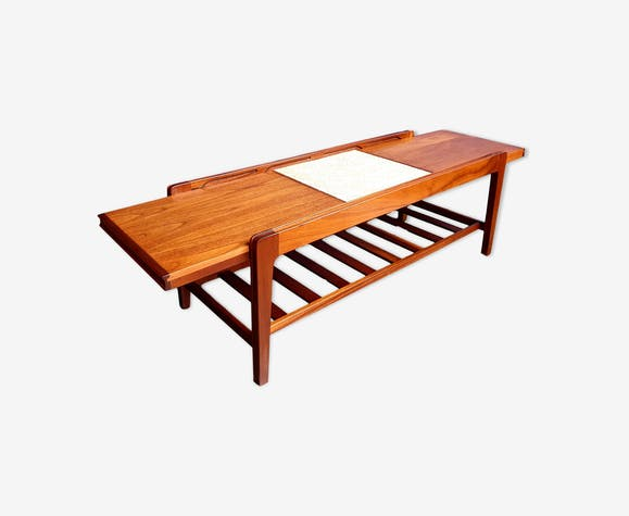 Vintage Teak Tile Extendable Coffee Table From Remploy