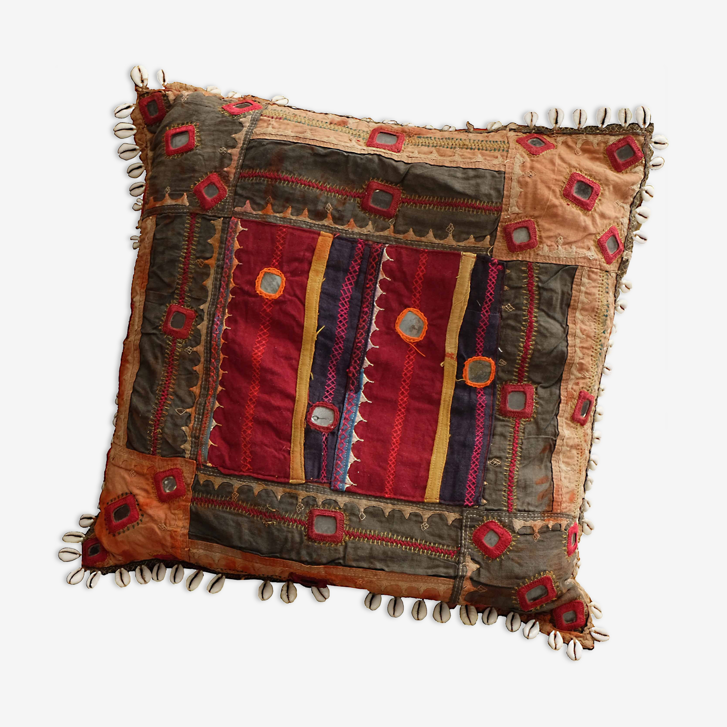 Housse de coussin indien style Rabari