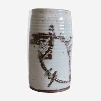 Vase à décor scarifié de l'atelier de Poulfetan