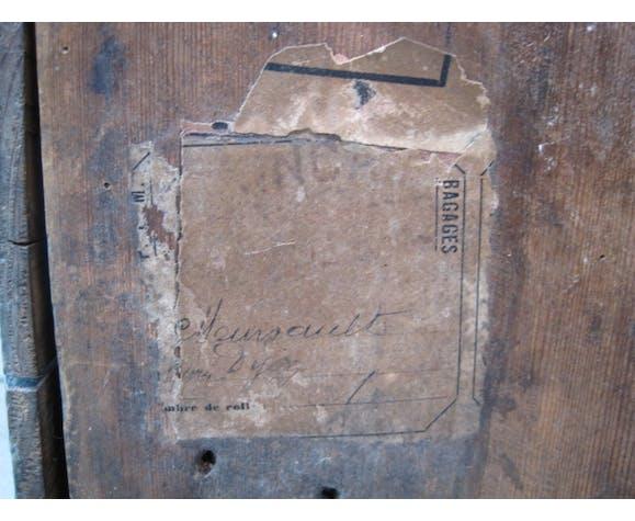 Malle ancienne de voyage en bois
