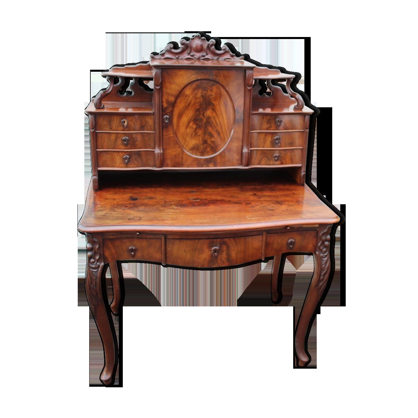 Bureau en acajou de style biedermeier bois matériau marron