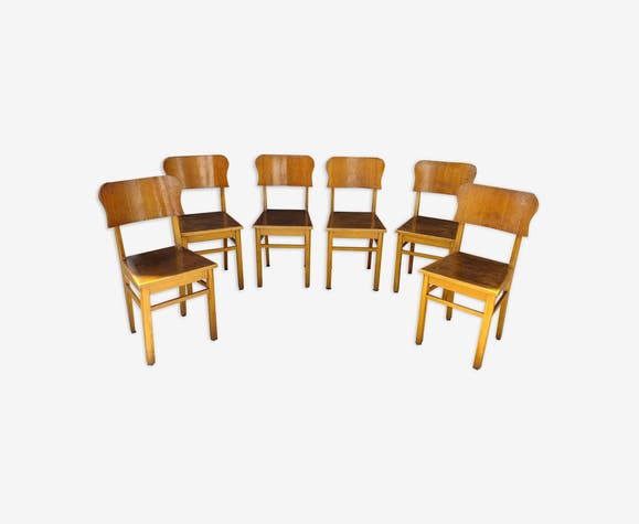 Lot de 6 chaises bistrot