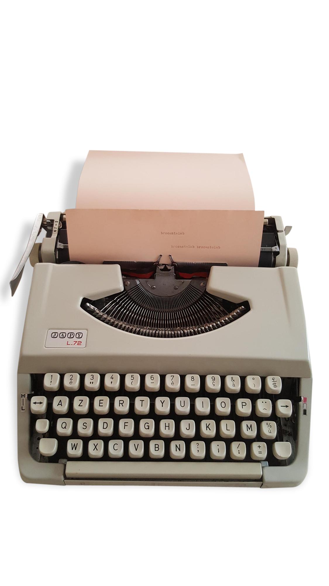 Machine à écrire portable Japy L72