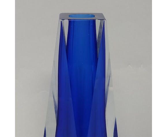 Vase bleu des années 1960 conçu par Flavio Poli ed. Seguso