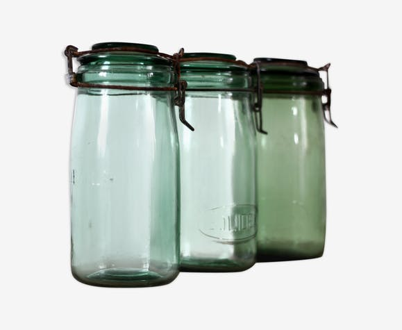 Old glass jars