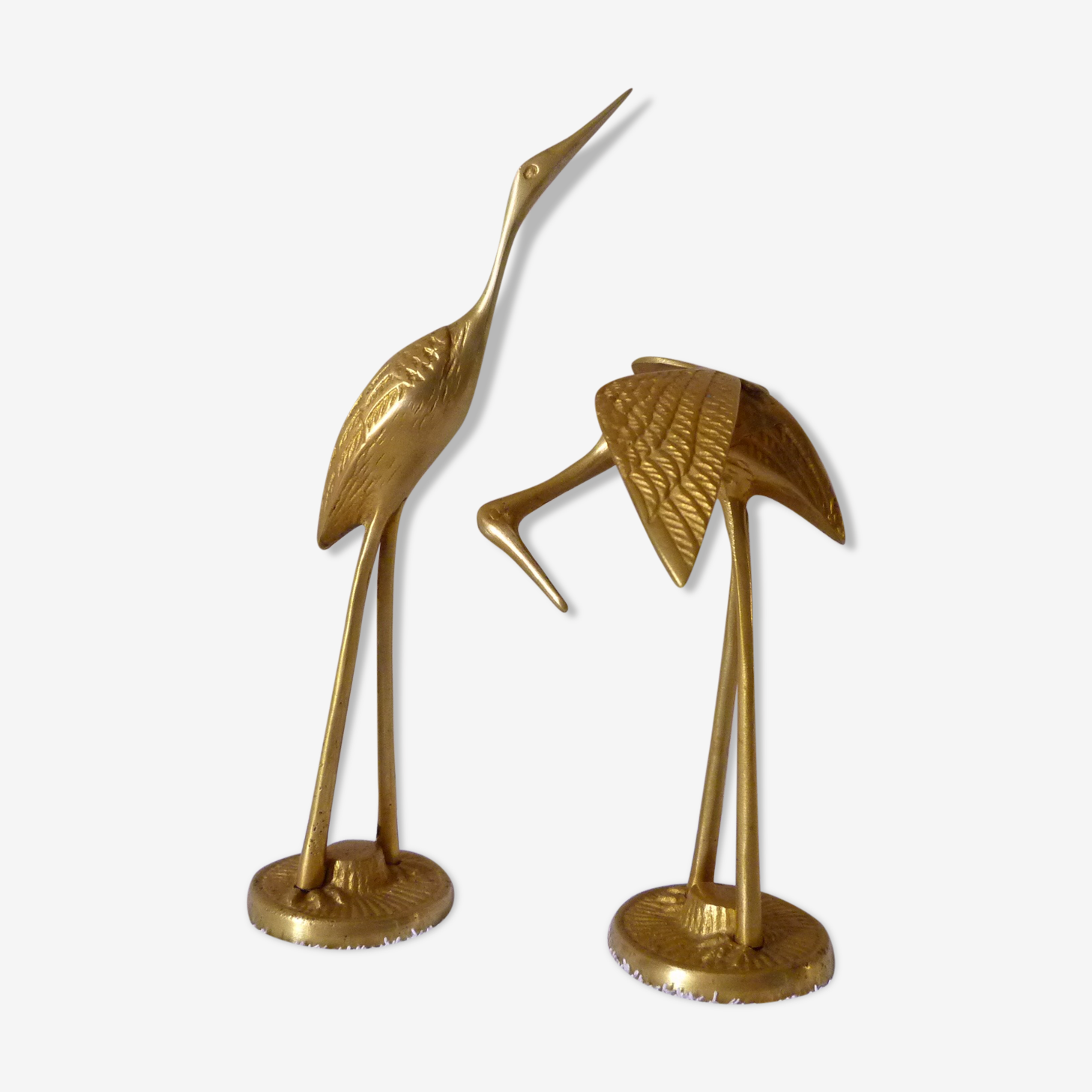 Couple of waders in brass