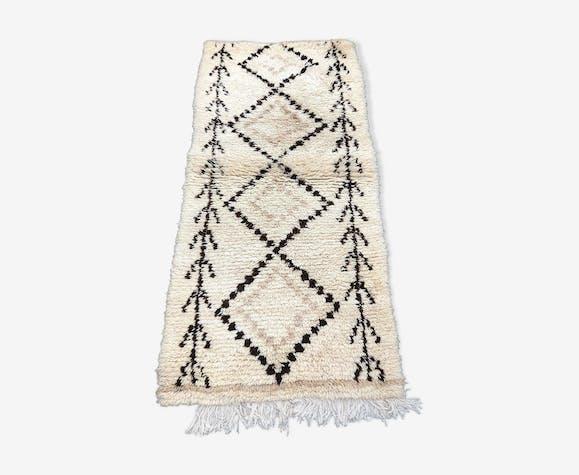 Tapis marocain en laine beni ouarain 90x200 cm