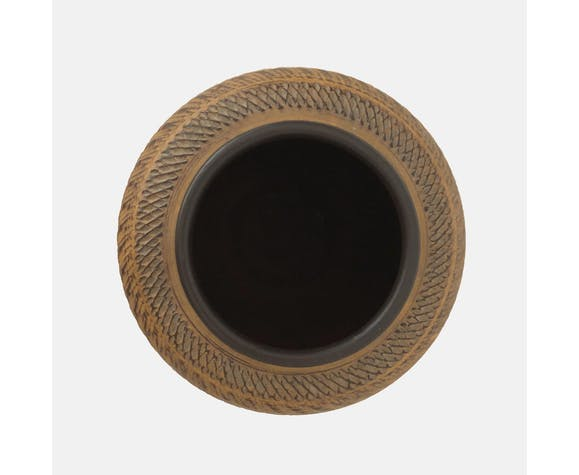 Magnifique vase de style inca à décor des années 60/70