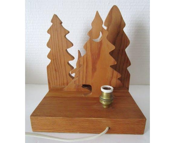Lampe en sapin massif scandinave vintage
