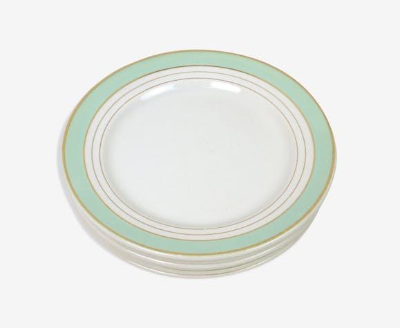 Six assiettes Luneville Régence