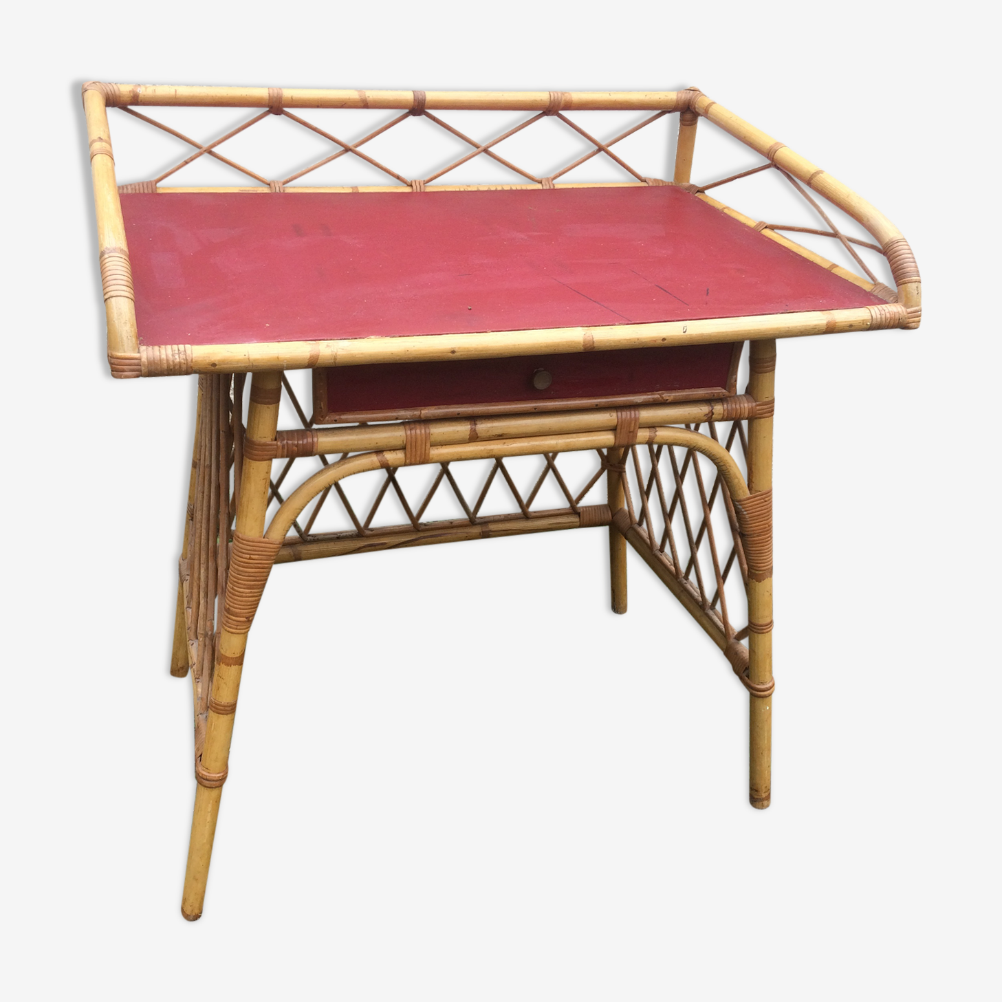 Rattan desk