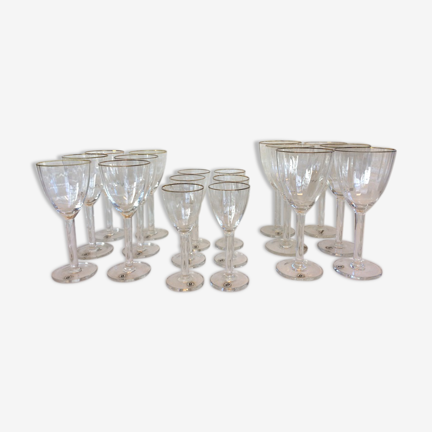 Ensemble de 18 verres Gunther Lambert cristal