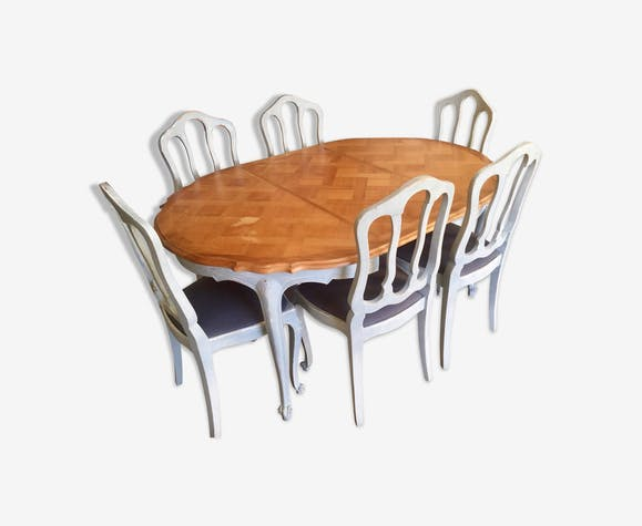 Dining table and its 6 chairs