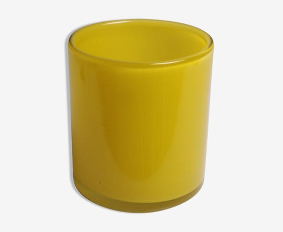 Henry Dean Vase Tubulaire Verre Glass And Crystal Yellow