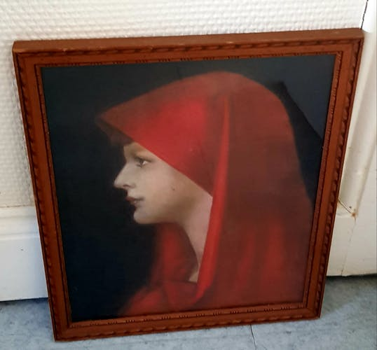 Pastel portrait de femme