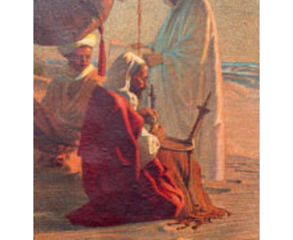 """Poster """"In the desert painting"""" educational 1918"""