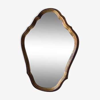 Mirror wooden gold 23x31cm