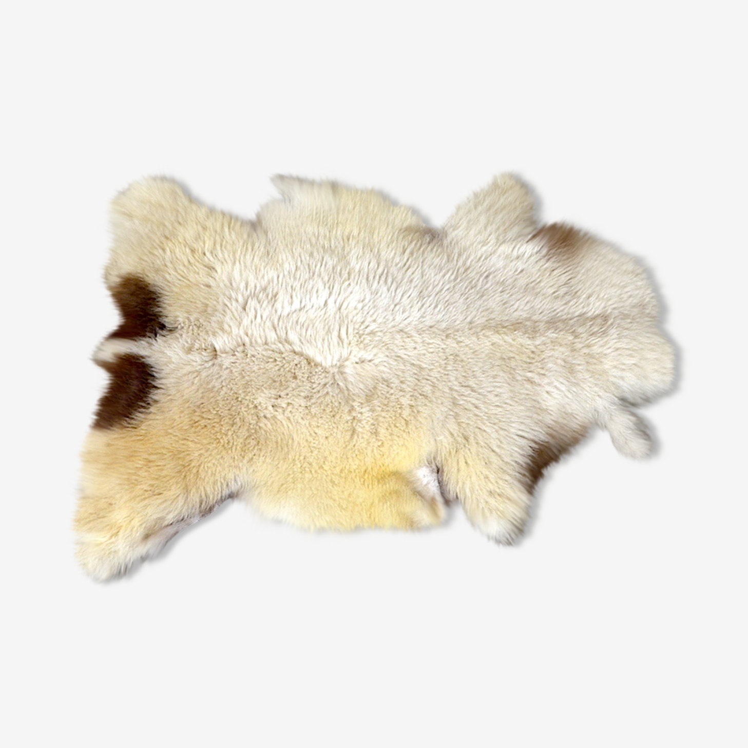 Peau de mouton blanchette déco vintage cocooning 65x92cm