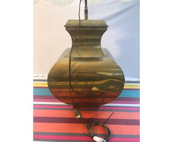 Ancienne lampe forme balustre laiton