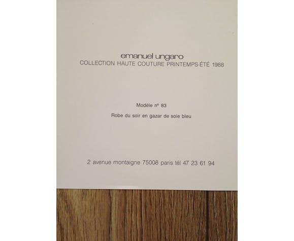 Emanuel ungaro - press sketch - fashion late 80s