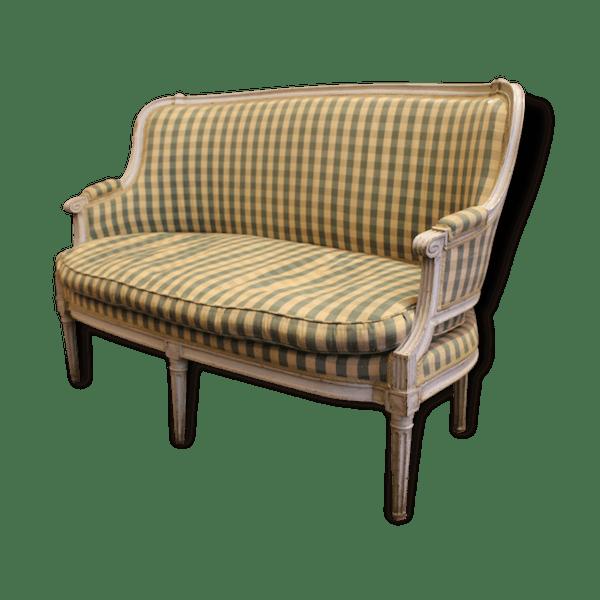 canap banquette style louis xvi bois mat riau classique 82942. Black Bedroom Furniture Sets. Home Design Ideas