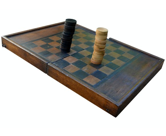 checkers and backgammon game