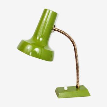 Lampe de bureau tout métal vert vintage