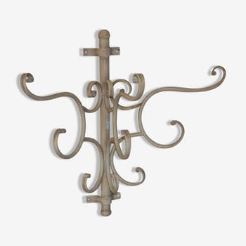 Wall coat racks in weathered iron