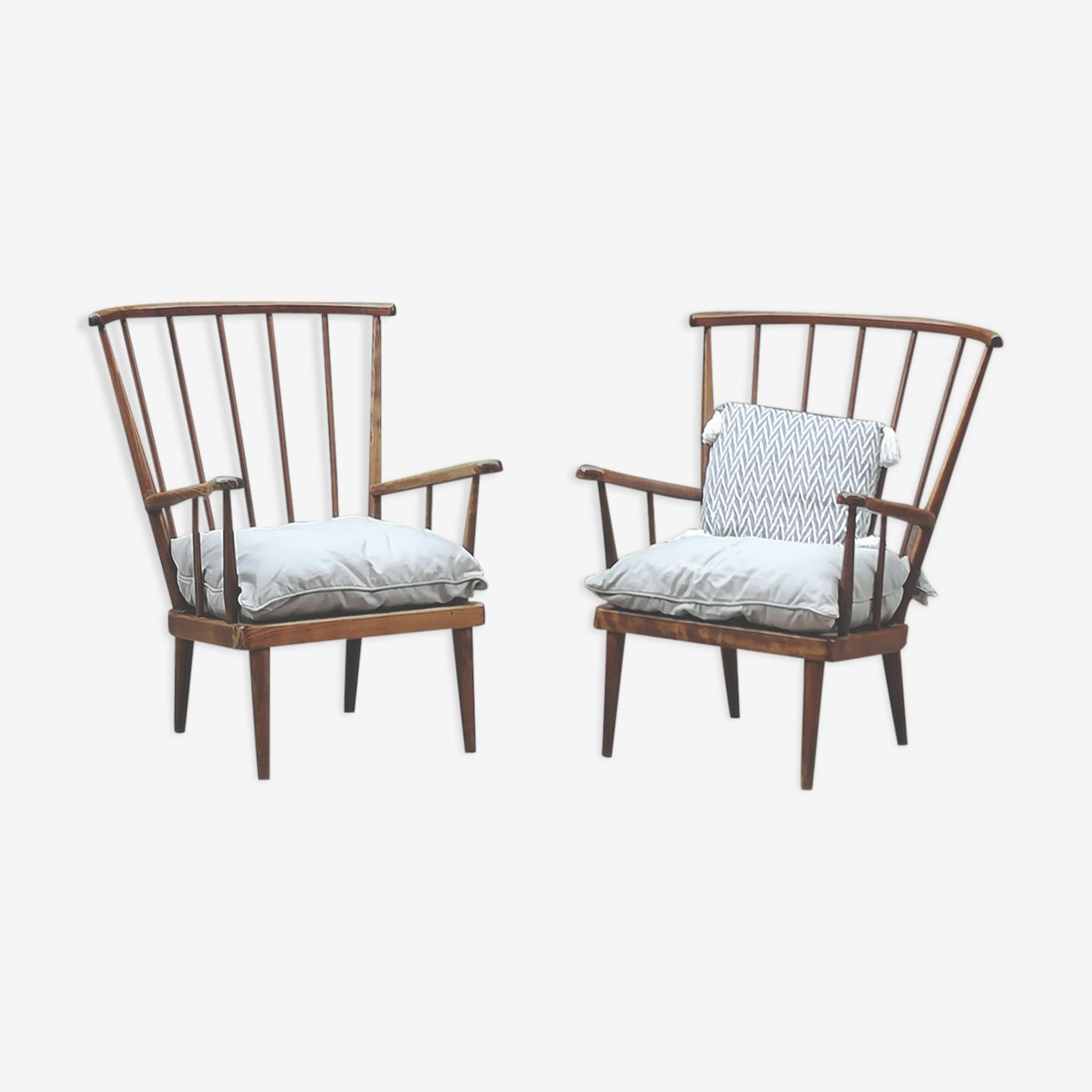 Pair of Baumann armchairs