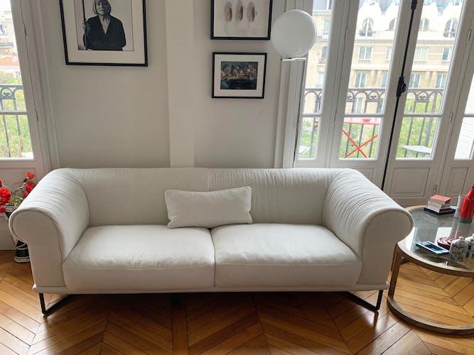 Canapé design italien 3 places blanc