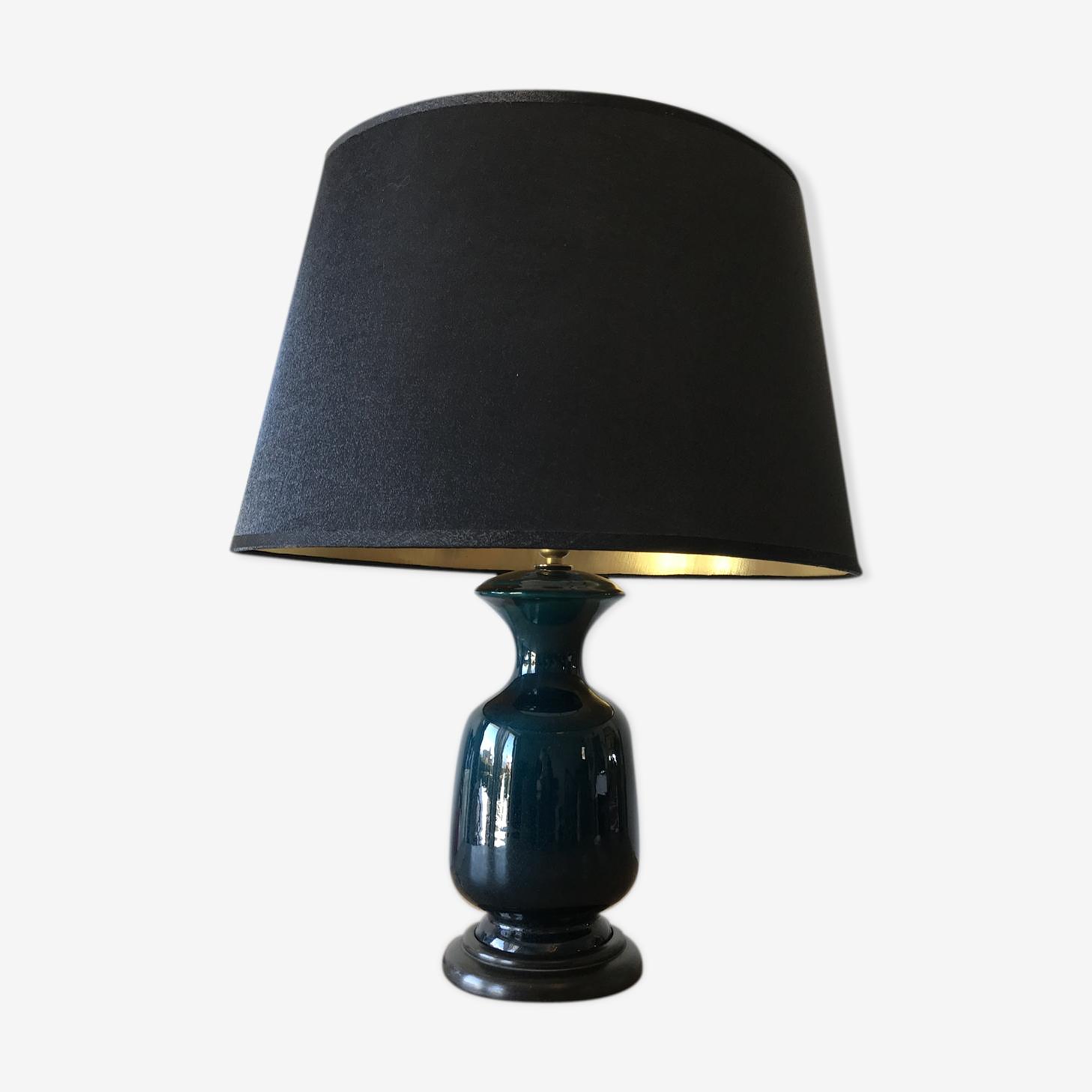 Lampe céramique bleu
