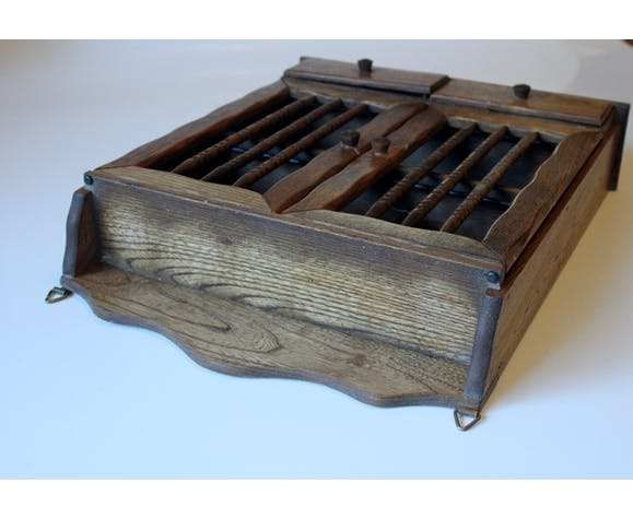 Armoire à épices en bois à accrocher vintage des années 1960