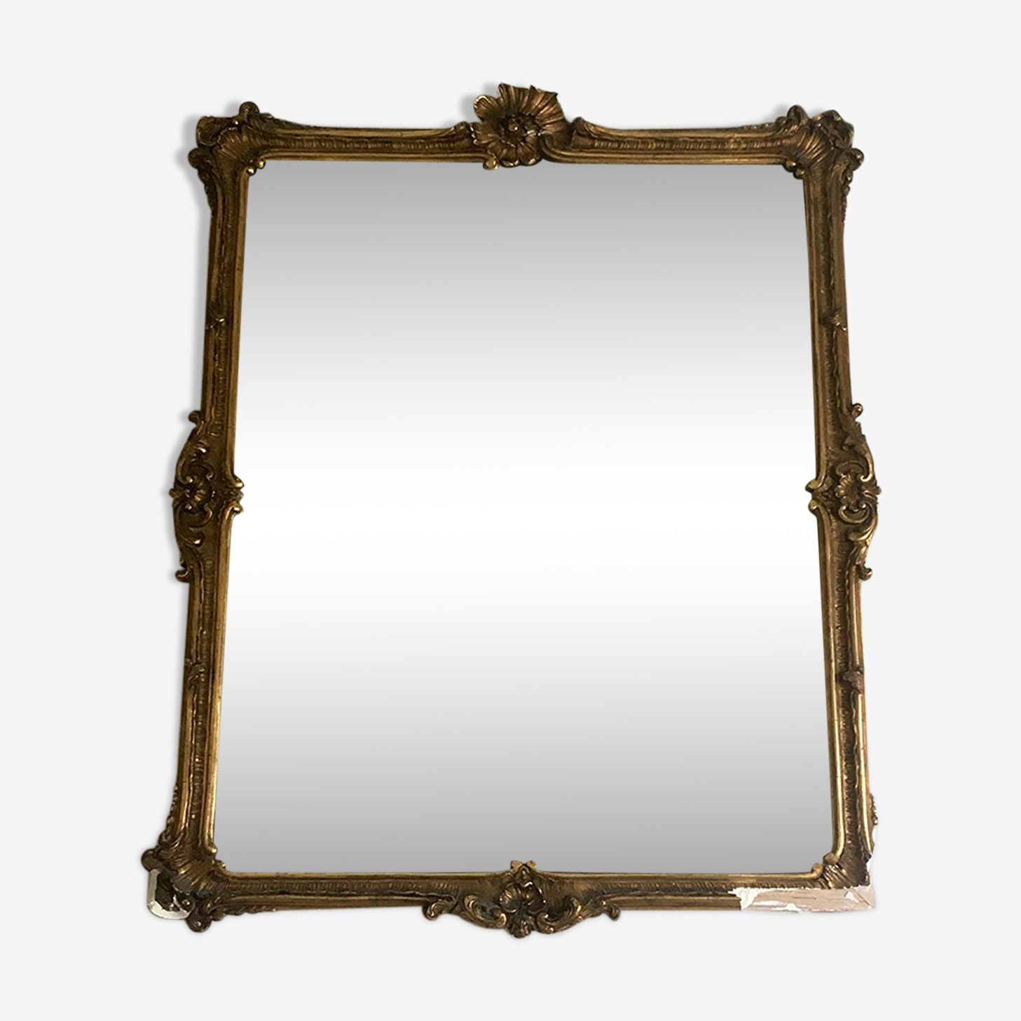Mirror in wood and gilded stucco 72x56cm