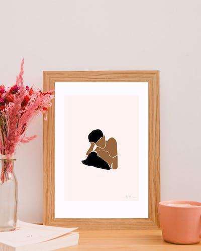 Illustration Amour - Le regard