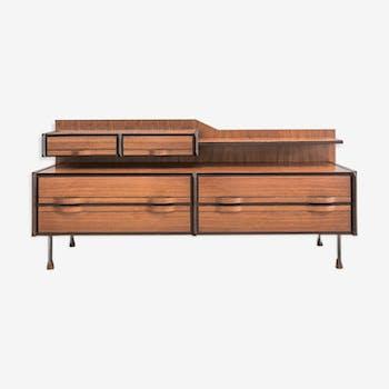 bahut vintage r nov bois mat riau multicolore. Black Bedroom Furniture Sets. Home Design Ideas