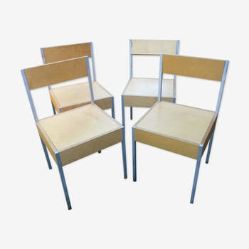 Set of 4 chairs Swiss 1980