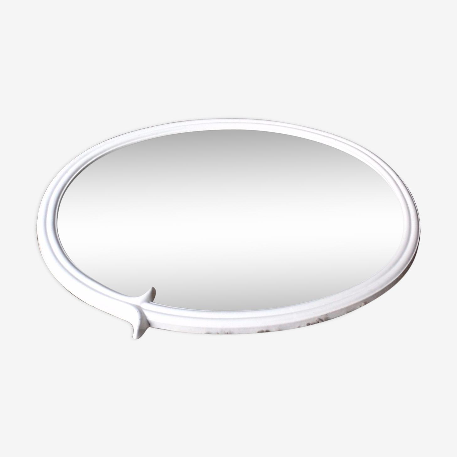 Miroir fonte fer ovale art nouveau