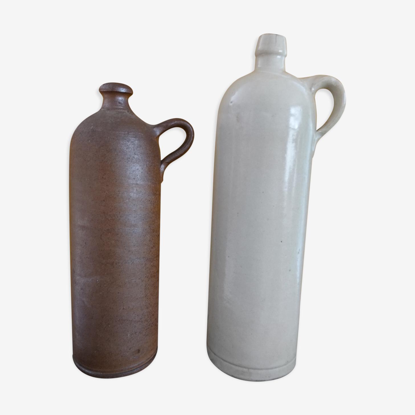 Lot of 2 stoneware bottles