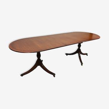 Table à rallonge en acajou