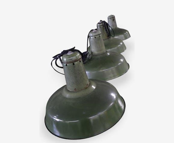 Lampe suspension gamelle verte
