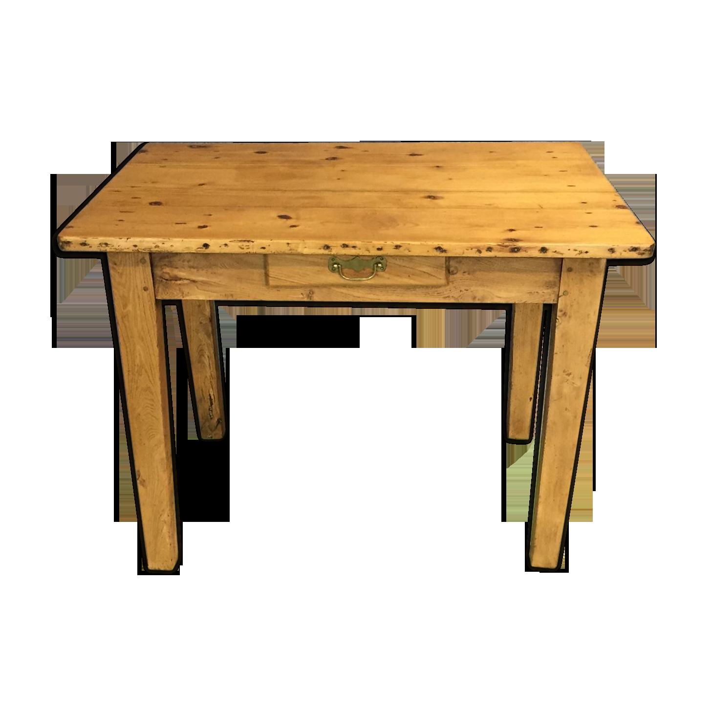 Table bureau en sapin fin xixème bois matériau bois couleur