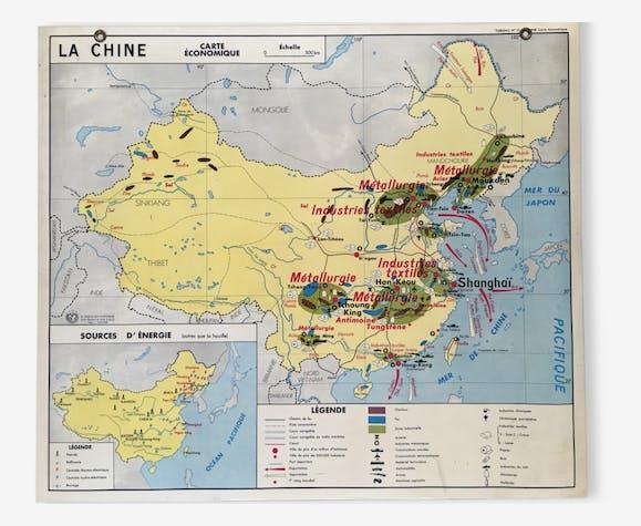 Carte Urss.Cartes Scolaires Anciennes L Urss Et La Chine Cartes Economiques