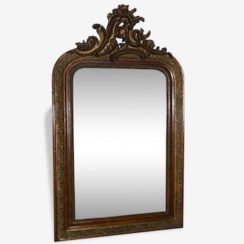 Miroir  XIXème s. bois et stuc