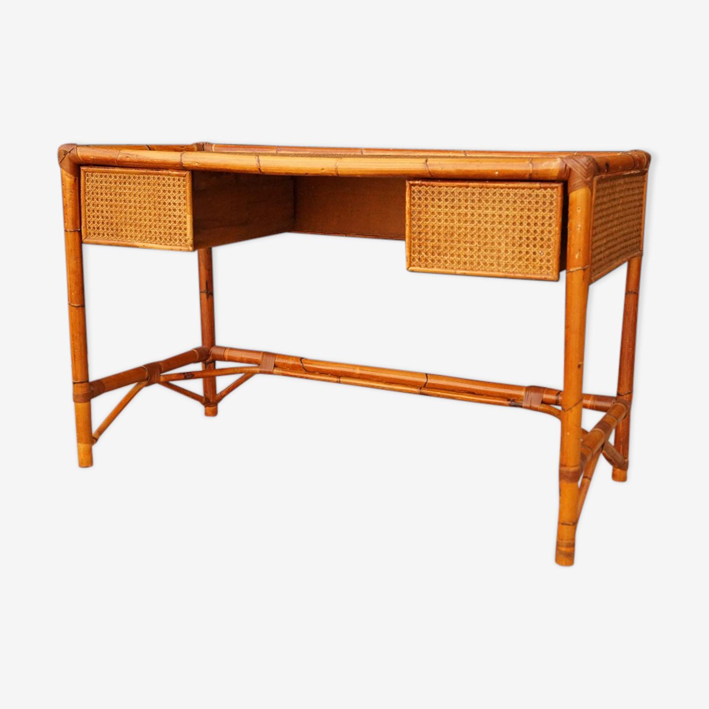 Bureau bambou des années 40