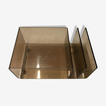 Coffee tabel 1970 plexiglas on wheels
