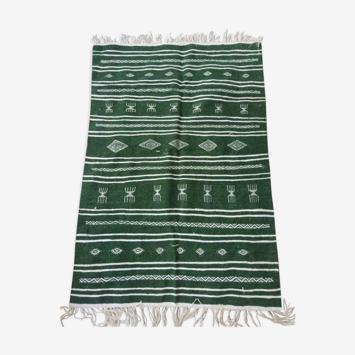 Carpet Kilim green and white 95x145cm