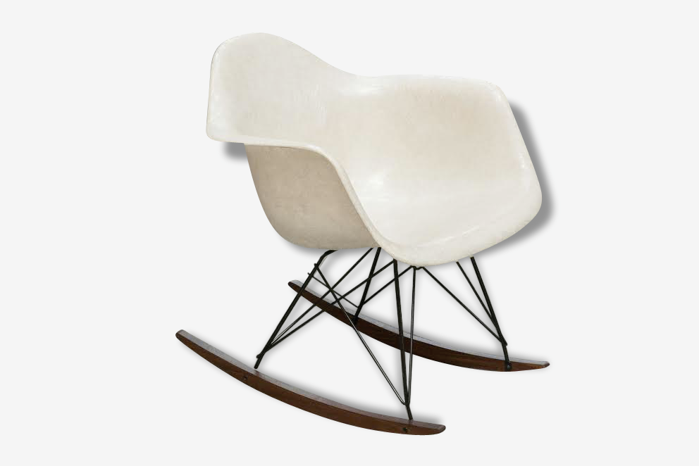 Rocking chair Eames Herman Miller parchemin