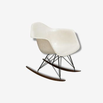 Rocking chair Eames Herman Miller parchment