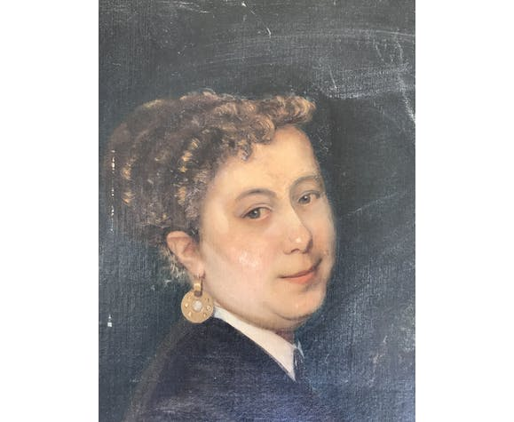 Portrait de femme Ecole française du XIXe siècle